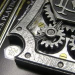 3D Mechanized Deck. Dali's spirit in a metal three-dimensional card box