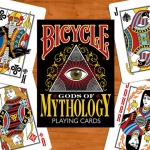 Gods of Mythology Bicycle deck. Gods and godesses wait for printing