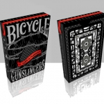 Bicycle Gunslingers deck. Each card will be a weapon in your hands