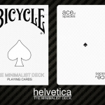 Bicycle Minimalist Helvetica Deck. One font for a modern design
