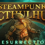 Steampunk Cthulhu Resurrection Playing Cards. The reborn of an old monster