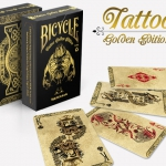 Bicycle Tattoo Golden deck. Engrave it in your collection