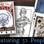 Colonial Unrest Bicycle Playing Cards. The last deck of the trylogy