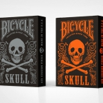 Bicycle Skull Limited Edition decks. Orange and Silver skulls will complete your collection