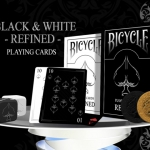Refined Twins Black and White Bicycle Decks. Doubly elegant
