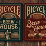 1910 Brew House Bicycle decks. Cool and foamy playing cards