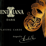 Venexiana Dark Playing Cards. The sordid and disturbing masked face of Venice