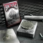 Bicycle METAL Rider Back Playing Cards by Max. The VERY FIRST deck of the year 2015