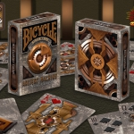 Bicycle Ancient Machine Playing Cards. Futuristic robots of the past times