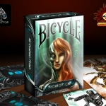 Bicycle Robotics Playing Cards. Colorful robots of the future