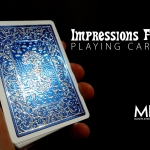 Impressions Metallic Foil Back Playing Cards. Not only embossed, but also shiny