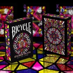 Bicycle Stained Glass deck. Playing cards made with colored glass
