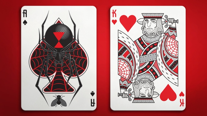 Black Widow Playing Cards  The deck that will catch you in its web