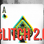 Glitch 2.0 decks. Misprinted playing cards in neon colors