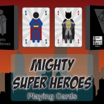 Mighty Super Heroes Playing Cards. Minimalist superheroes meet in a new deck