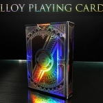 Alloy Playing Cards. Elegant deck with multicolored sparkles