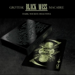GROTESK MACABRE BLACK MASS Edition. Metallic inks on black stock. A true collector deck