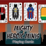 MIGHTY HEROIC MINIS Playing Cards. The minimalist heroes strike back