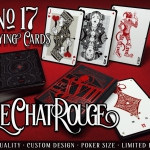 LE CHAT ROUGE Playing Cards. This cat has seven extras