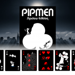 PIPMEN SHADOW Edition Playing Cards. The darker side of these stickmen
