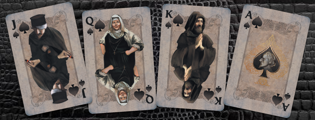 spades mockup black background