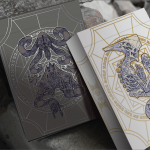 BONE AND EBON Playing Cards. Demons from hidden worlds with touches of gold and silver