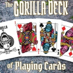 BICYCLE GORILLA Playing Cards. Finally, the primates in tricycle reach the finish line