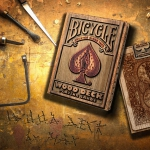Launch of BICYCLE WOOD RIDER BACK Playing Cards. Saw and sandpaper ready!