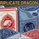 1876 Triplicate Dragon Playing Cards Restoration. A classic deck with a popular back