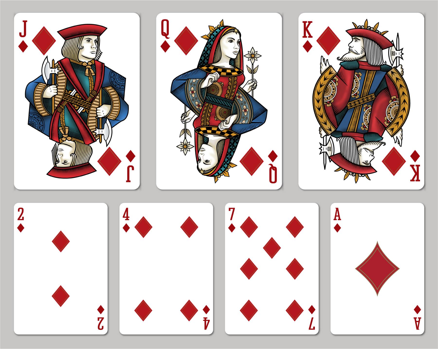 Картинки для игральных карт своими руками