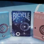 BICYCLE NEBULA Playing Cards. A minimalist and geometric universe