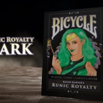 BICYCLE RUNIC ROYALTY DARK Playing Cards. The second Edition in black of a nice fantasy deck