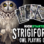 STRIGIFORMES OWL BICYCLE Playing Cards. The disturbing beauty of nocturnal creatures