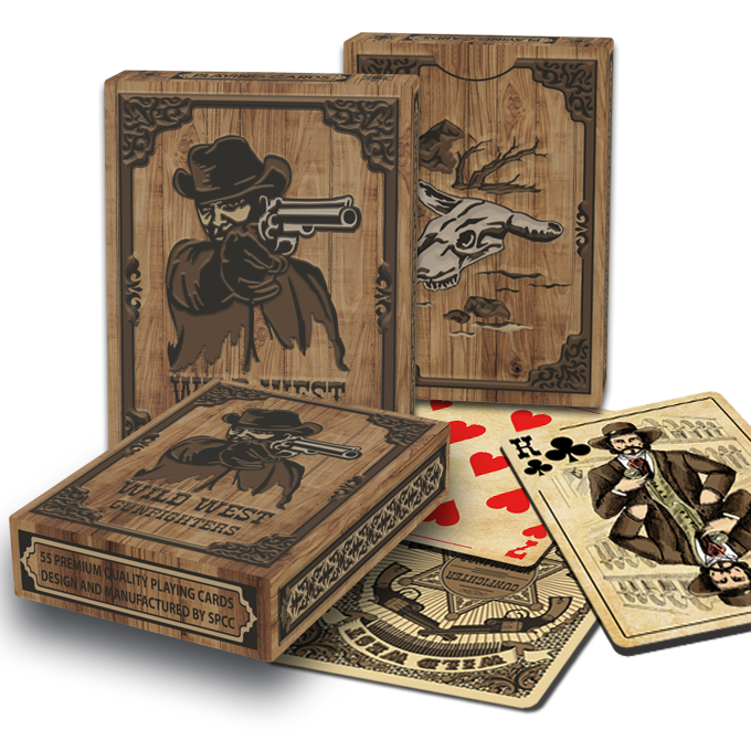 Playing Cards Wild West Gunfighters SPCC New