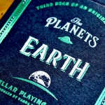 THE PLANETS: EARTH Playing Cards. A third deck with the feet on the ground