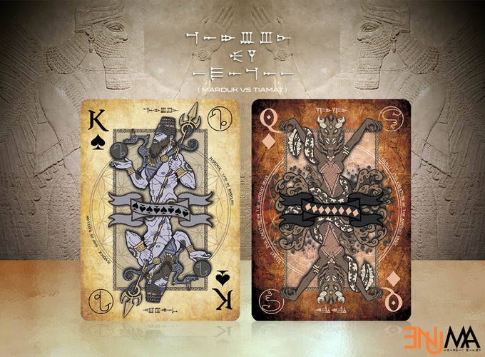 ENUMA Playing Cards  The great war of the Babylonian gods
