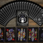 GORILLA Playing Cards SILVERBACK Edition. Metallic bicycles for these elegant primates