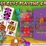 GHOUL GUYS Playing Cards. A child's imagination produces funny monsters