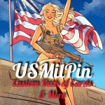 USMilPin Playing Cards. A sexy and very well armed deck