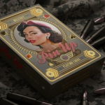 MILITARY PIN-UP Playing Cards. The armed beauty