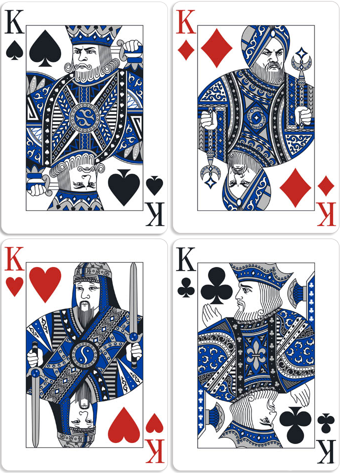 CROWN JEWELS SAPPHIRE Playing cards   The most precious blue