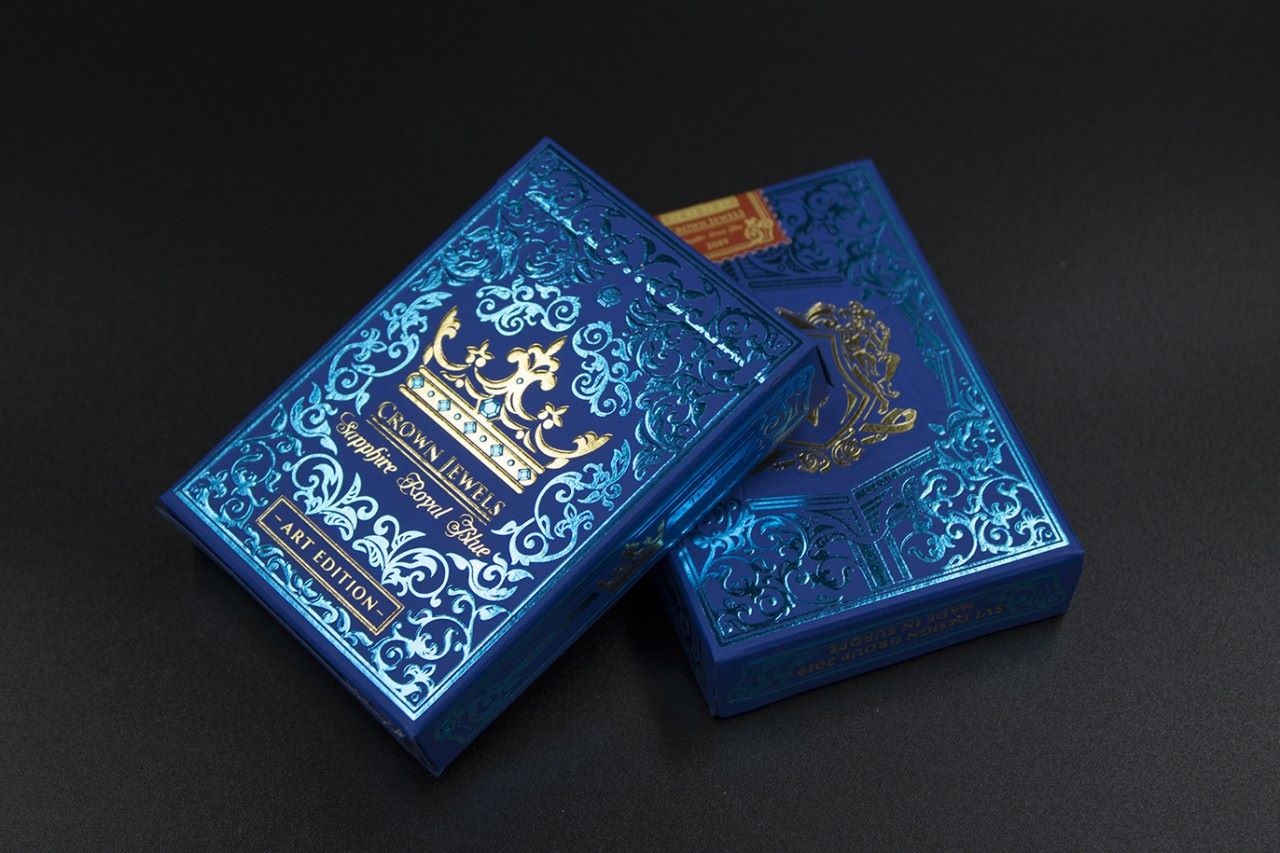 The Crown Deck 2 Decks Blue Luxury Edition The Blue Crown