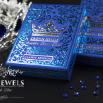 CROWN JEWELS SAPPHIRE Playing cards . The most precious blue beauty