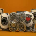 ARISTO STEAMPUNK Playing Cards . A mechanical and retro-futuristic deck