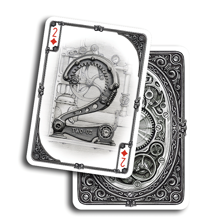 ARISTO STEAMPUNK Playing Cards   A mechanical and retro