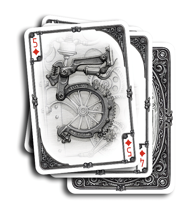 Aristo Steampunk Playing Cards A Mechanical And Retro Futuristic Deck Max Playing Cards