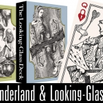 THE WONDERLAND and LOOKING GLASS Playing Cards. Classical illustrations from a classic of literature