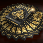 BICYCLE EVOLVE Playing Cards. A precise machinery with gold gears