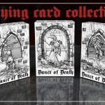 DANCE OF DEATH Playing cards. A trilogy of monochromatic death