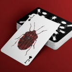 JEWELRY BOX cards. Decorative watercolor beetles